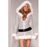 Sexy Girl - Christmas Silver Jacket