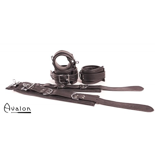 Avalon - LEGEND - Cuffs og Collar sett Sort