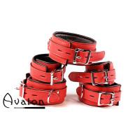 Avalon - DENY - Collar og Cuffs, 5 deler, Rødt
