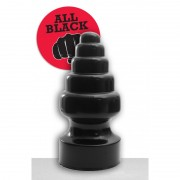 All Black - AB 53 Stor Buttplug med Økende Diameter