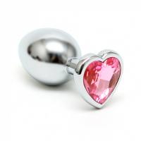 Rimba - Buttplug med hjerte krystall rosa