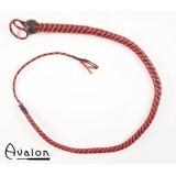 Avalon - Bullwhip heavy handle, Sort og rød 1,3 m