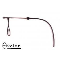 Avalon - WURM - Sort 1-halet silikonflogger med metall håndtak