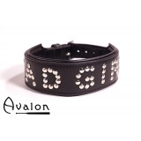 Avalon - Collar Bad girl - Sort