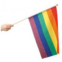 Prideflagg på pinne 30 X 40 cm