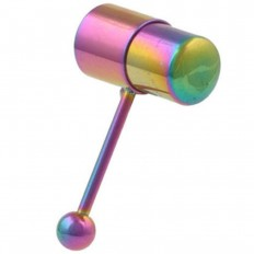 Tungepiercing med vibrasjon - Flerfarget