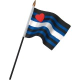 Leatherprideflagg På Pinne, Small